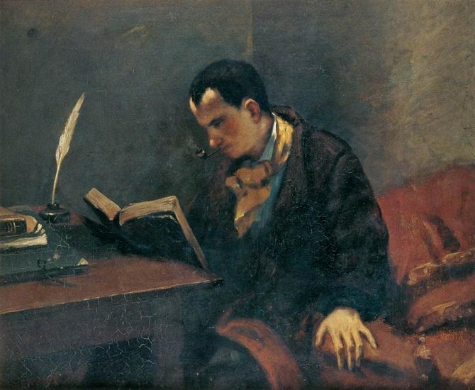 Gustave Courbet, Ritratto di Baudelaire