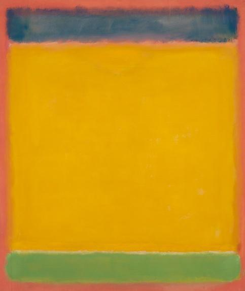 Mark Rothko, Untitled (Blue, Yellow, Green on Red) 1954