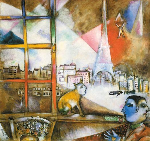 Marc Chagall,Parigi dalla mia finestra X ART BRISOTTO