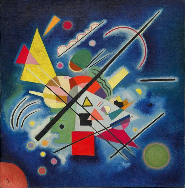 Vasily Kandinsky,  Dipinto blu x art grazia calanna