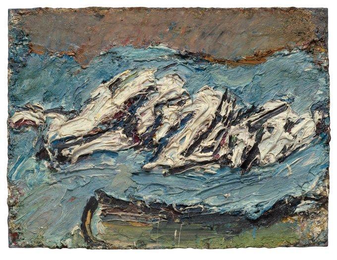 Frank Auerbach, Eow on her blue eiderdown