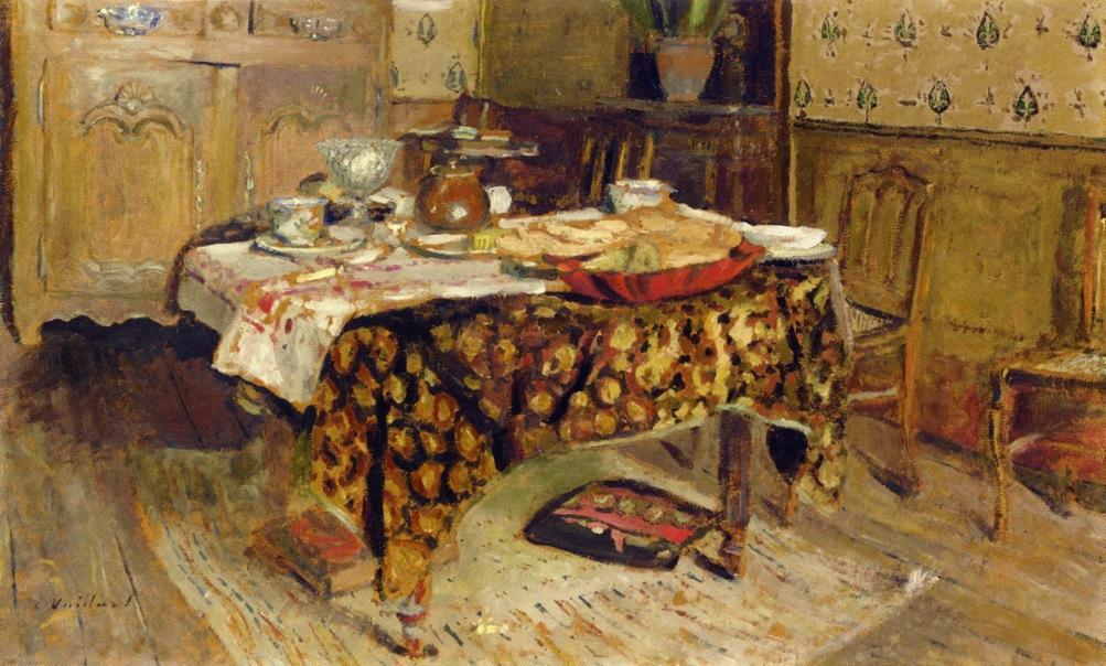 the-table-setting Edouard Vuillard