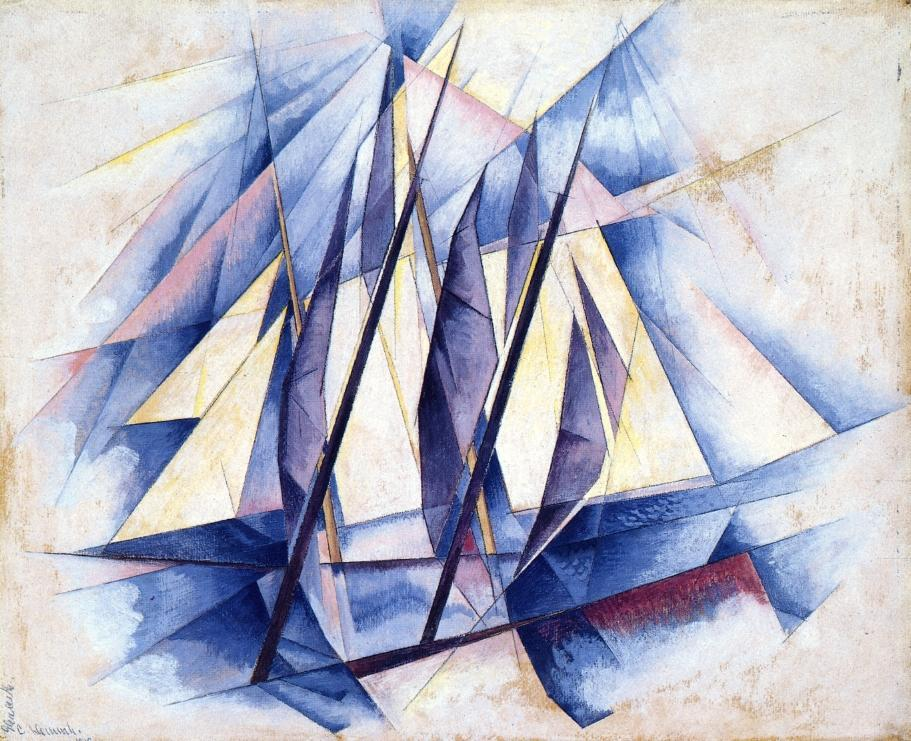 Charles-Demuth-Sail-In-Two-Movements-1919