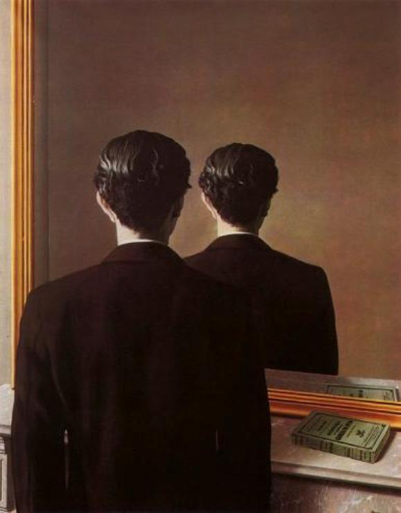 Magritte, Uomo allo specchio EDITORIALE