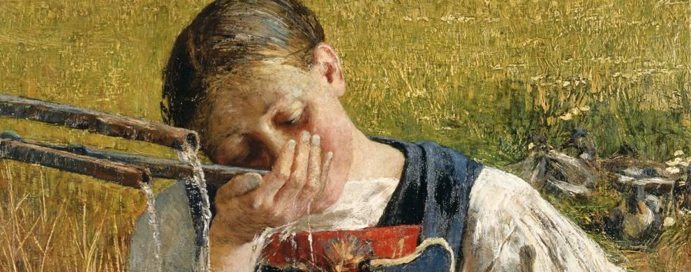 Giovanni Segantini, Costume grigionese 1887 per LETIZIA DIMARTINO