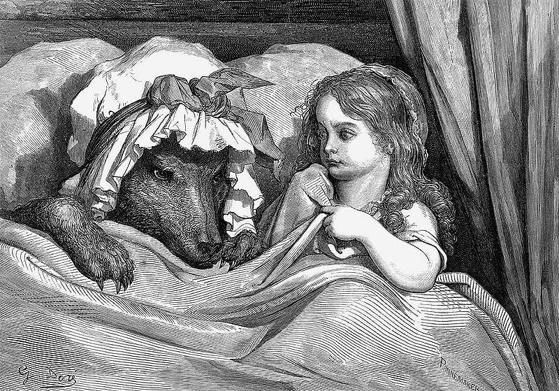 Gustave Dore,  Cappuccetto e il Lupo