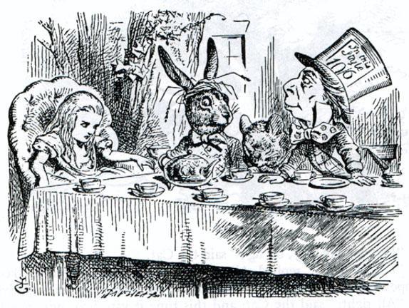 John Tanniel,  Alice il Bianconiglio e il Cappellaio Matto