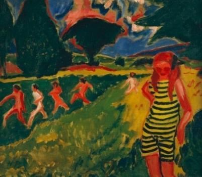Max Pechstein, La maglia gialla e nera, 1910. Olio su tela  LAURA CAV