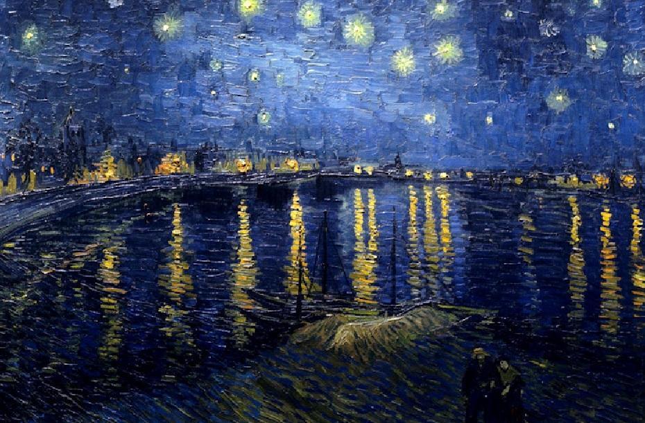 notturni Vincent Van Gogh, Notte Stellata sul Rodano