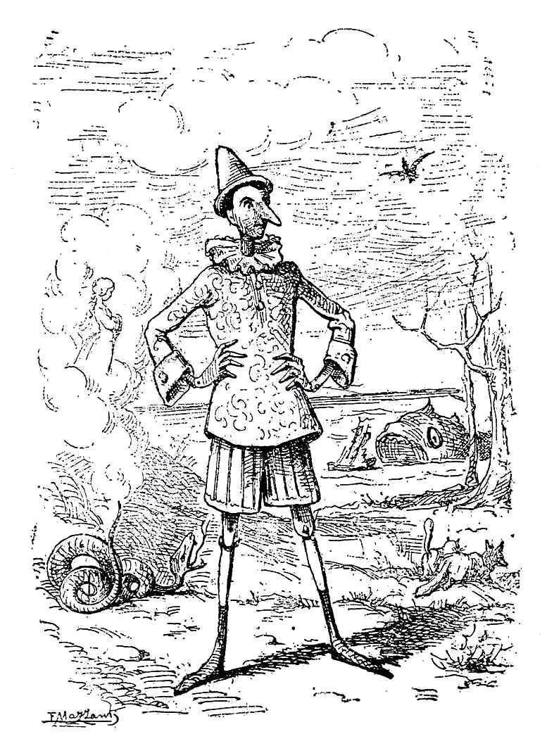 Enrico Mazzanti, Frontespizio Pinocchio