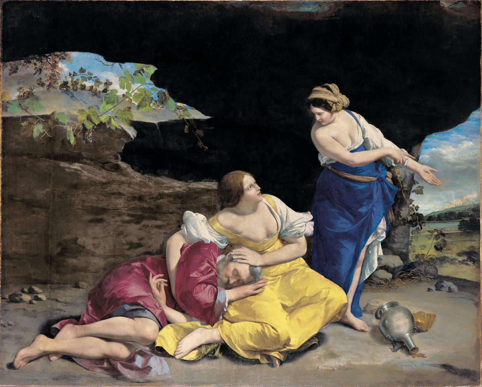 Lot e le sue figlie, Orazio Gentileschi