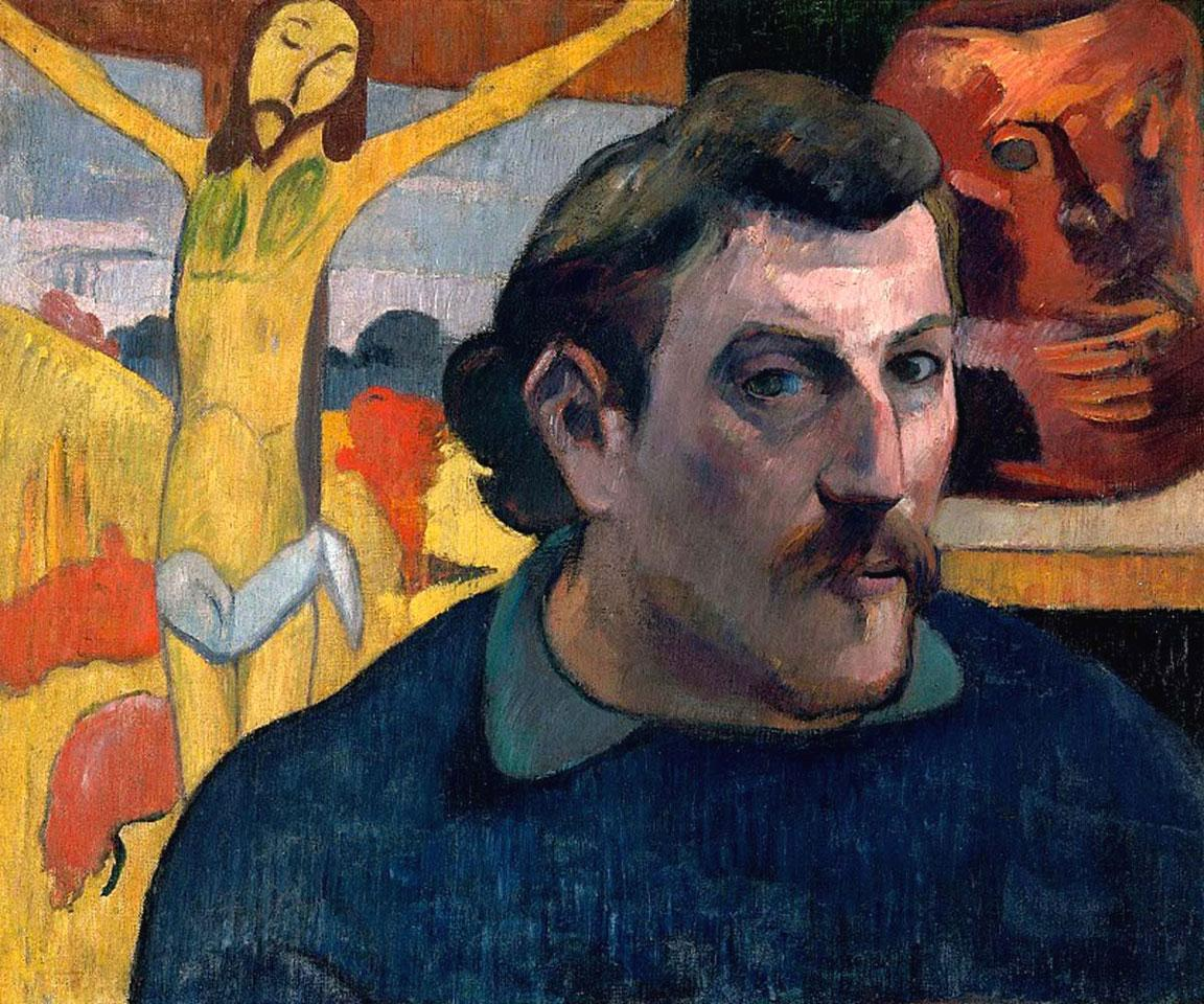 Paul Gauguin, Autoritratto con Cristo giallo, 1890-91