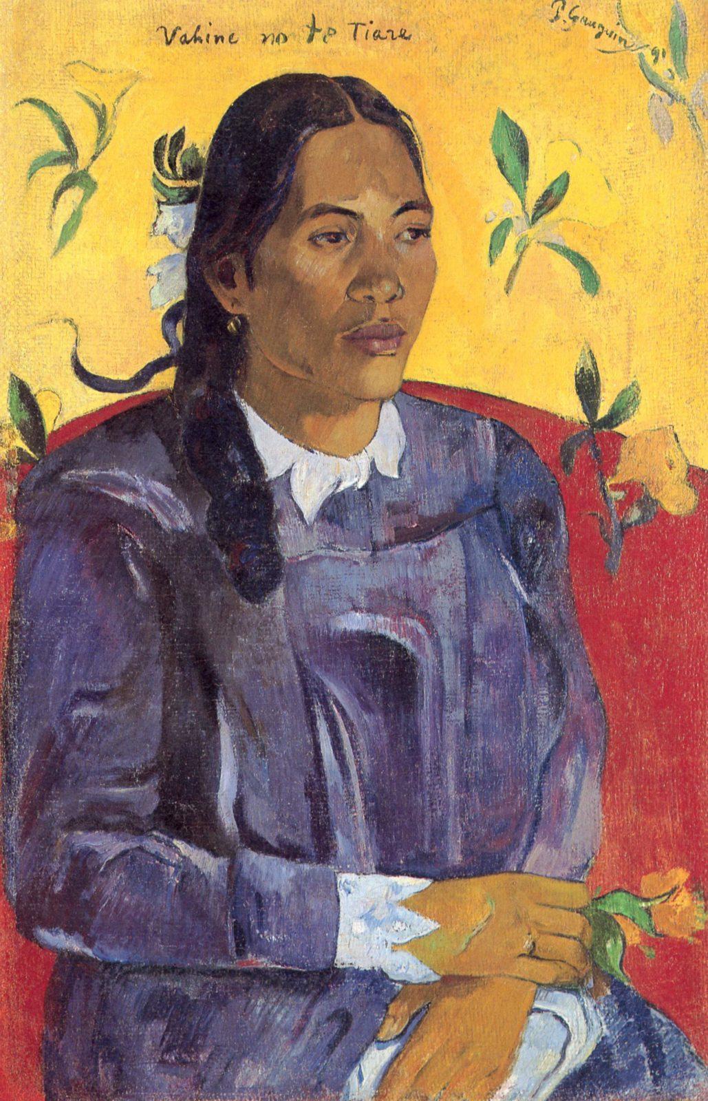 Paul Gauguin, Donna con fiore, 1891