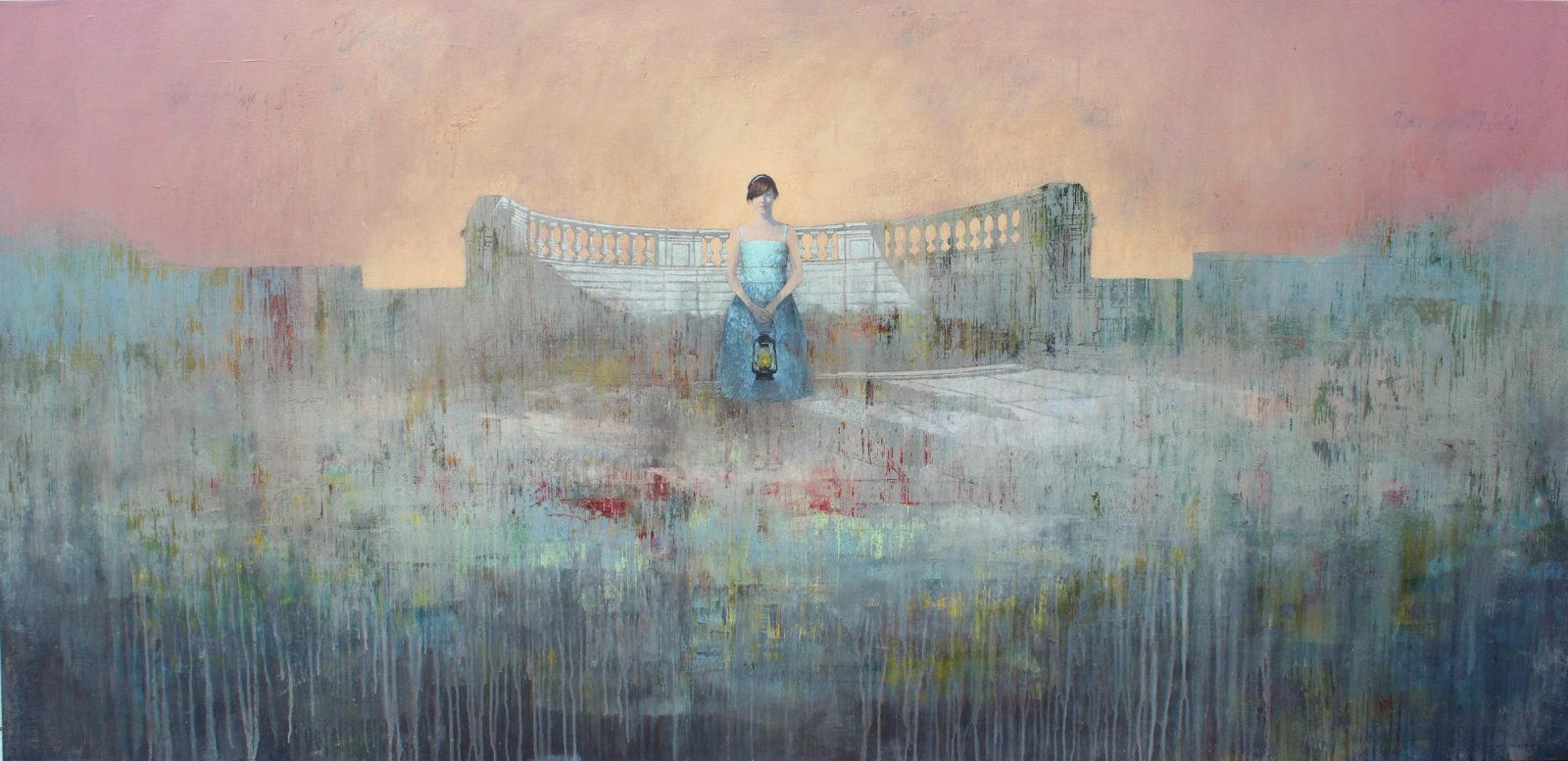 INFANTE FEDERICO, The Last Light, 2014, AcrIlico su tela, 121x254 cm
