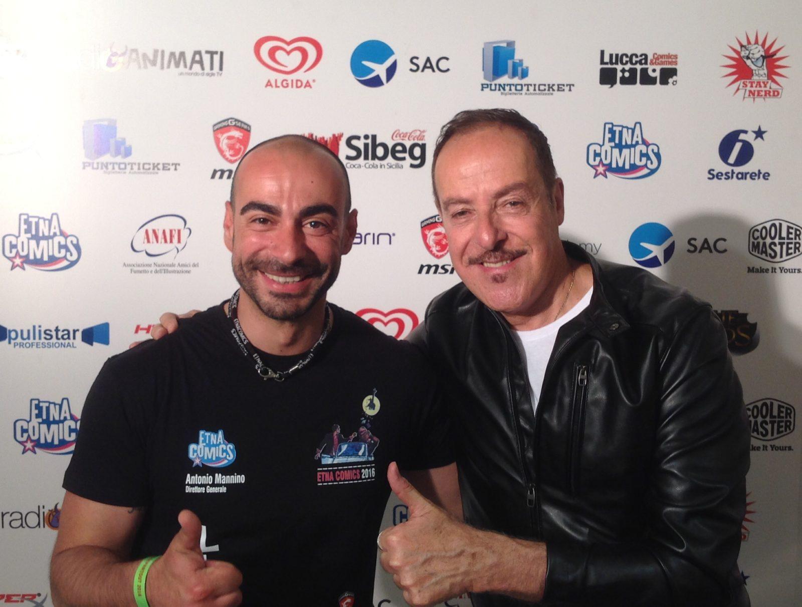 Antonio Mannino con Massimo Lopez