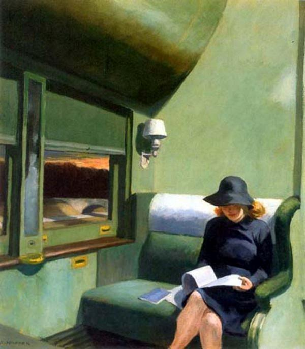 Edward Hopper, Compartment C, Car, 1938, IBM Corporation, Armonk, New York