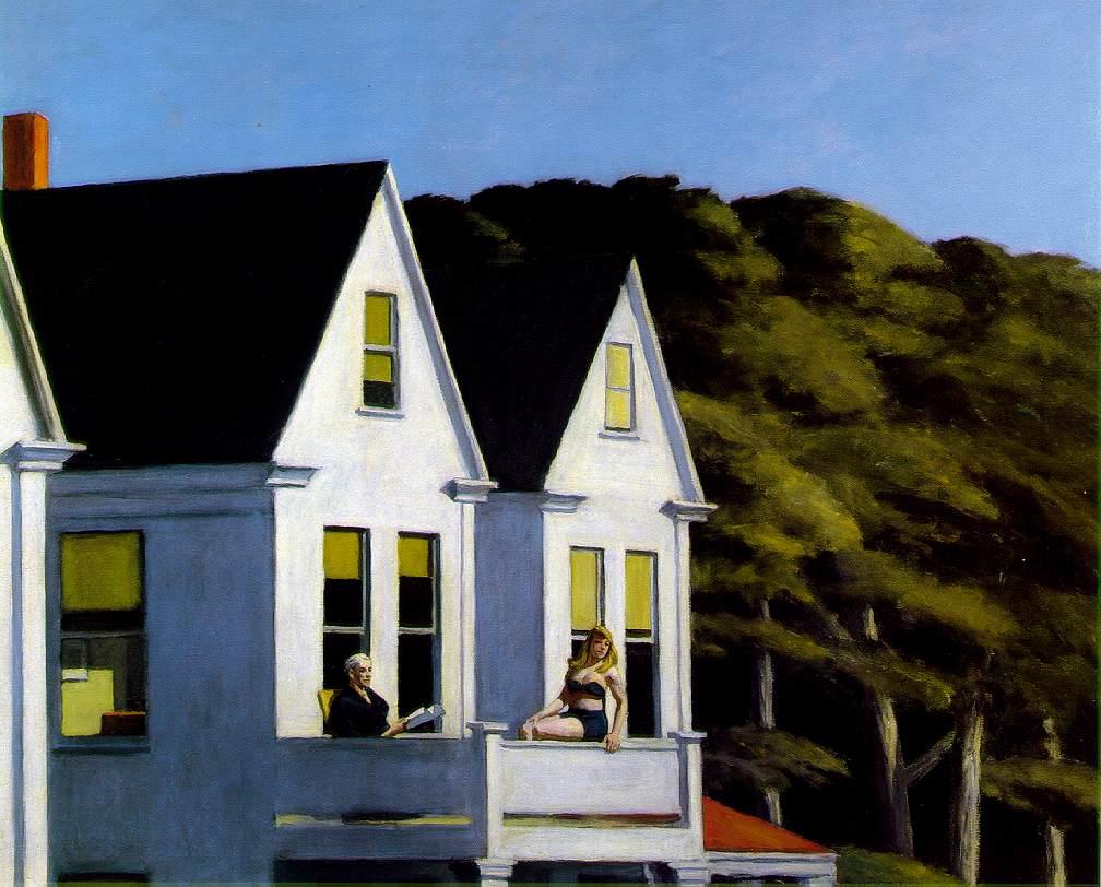 Edward Hopper, Second Story Sunlight, 1960, Collezione Privata