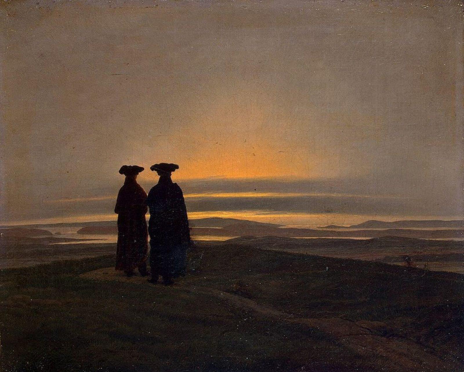 Il Tramonto, Caspar David Friedrich del 1830-1835